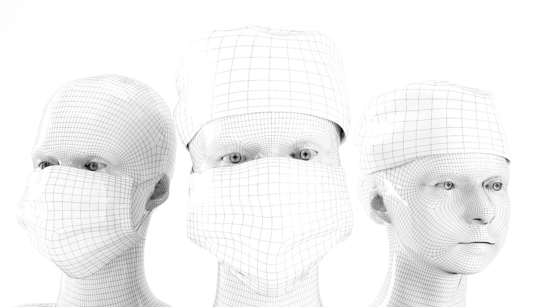 deep 3d studio - Rigged animated medical nurse 14