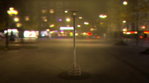 Cyberpunk - sci-fi street light Low-poly 3D model