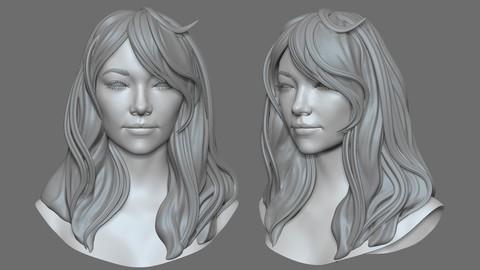 Chloe zbrush sculpt