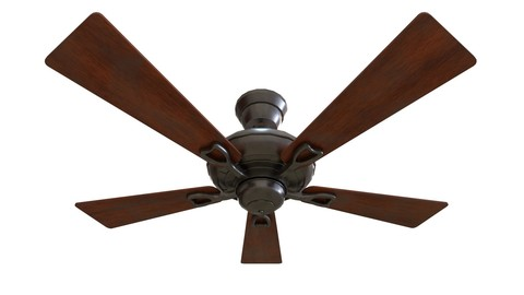 Game-Ready Ceiling Fan with 4K-PBR Texture Set