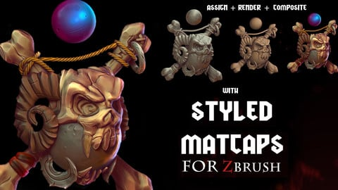 Styled MATCAPS for ZBRUSH