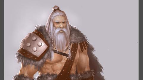 Character design tutorial Barbarian Warrior