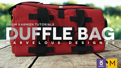 Marvelous Designer Tutorial: How to create a Duffel or Gym Bag