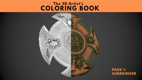 The 3D Artist's Coloring Book - Page 1. 'Sunbringer'