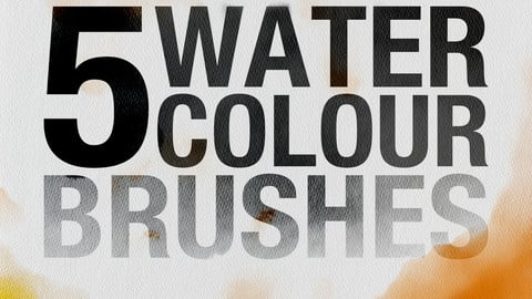 5 Watercolour Brushes