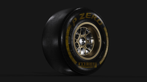 Pirelli PZERO Slick Material Tire for Keyshot