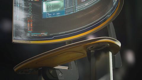 Excalibur standing computer terminal