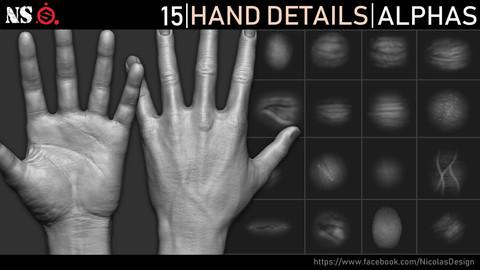 Hand Details Alphas