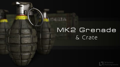 MK2 Frag Grenade & Crate, of the U.S.Army