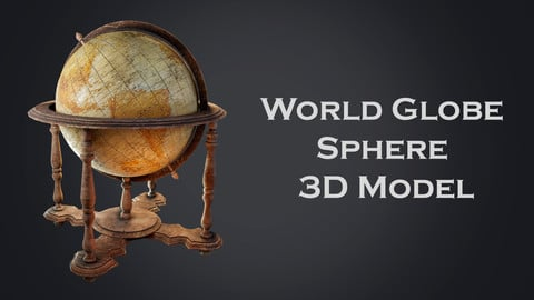 World Globe Sphere 3D Model