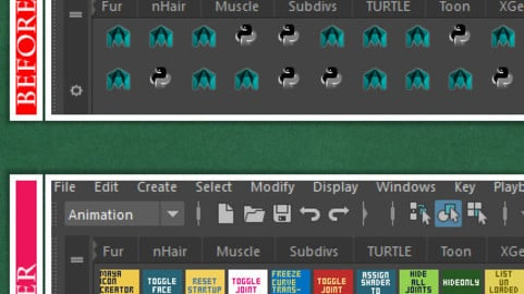 Maya Shelf Label Icon Generator (Create colourful maya shelf icons on the fly)