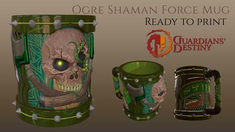 Ogre Mug - Shaman Force STL + Obj