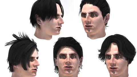 Set men`s hairstyles 5 types