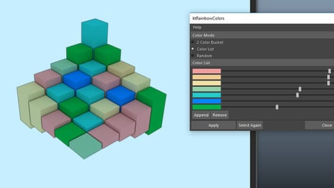 ktRainbowPolygons for Maya