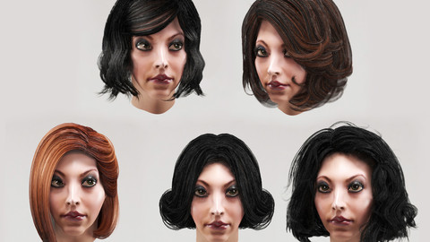 Women`s hairstyles (bob haircut) 5 types