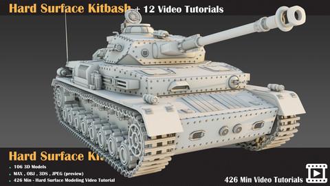 Hard Surface Kitbash + 12 Video Tutorials