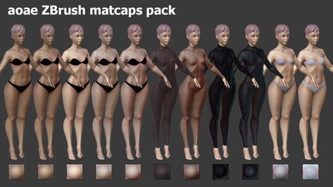 ZBrush MatCap materials
