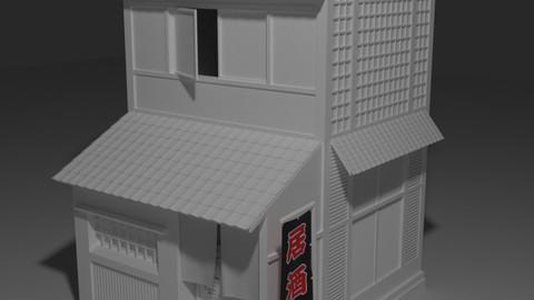 Japanese Izakaya Building Model (FBX, OBJ)