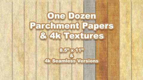 Parchments Textures Pack 1 - Letter & 4k