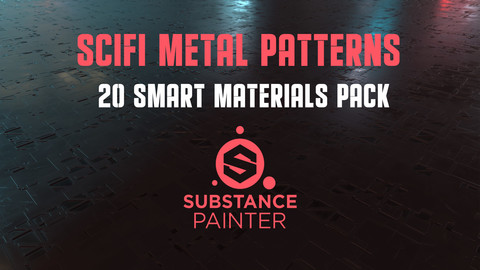 SciFi Metal Patterns - 20 Smart Materials Pack