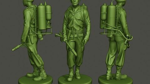 American soldier ww2 walk A6