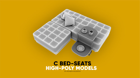 C Bed-Seats- High-poly models