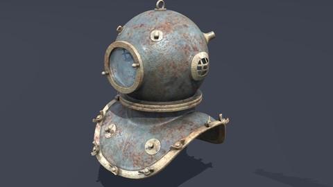 XIX Century diving helmet