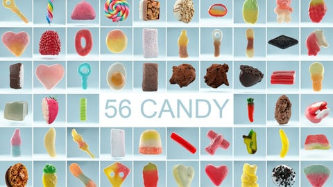 56 Realistic Candy Collection