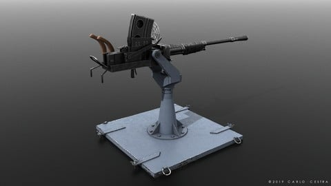 Type 96 - 25mm AT-AA Japanese single gun