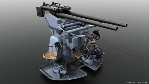 German 37mm SK C30 anti-aircraft gun