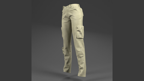 Pants ( For Woman, PBR, Lowpoly, Max, FBX)