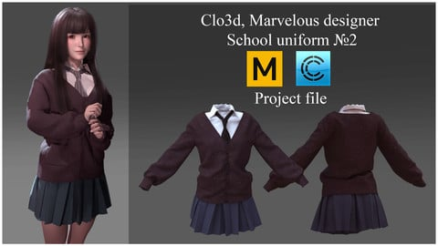 Clo3d, Marvelous designer School uniform №2