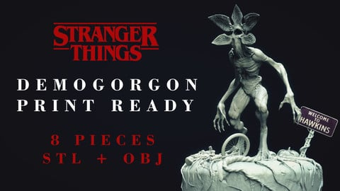 Demogorgon 3D printable figure