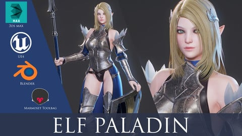 Elf Paladin - Game Ready
