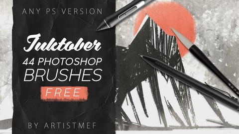 Free Inktober 2019 Photoshop Brushes