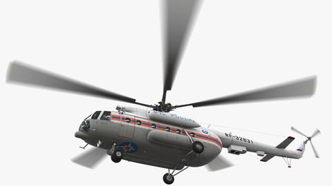 Mi-8MTV Russian Emercom Animated