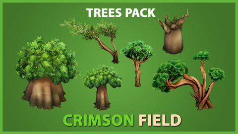 Crimson Field Stylized Trees Package - UE4 & UNITY