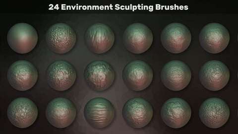 24 Environment Sculpting Brushes/Alphas