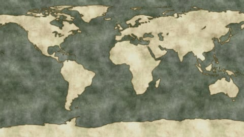 World map 8k