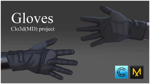 Gloves. Clo3d, Marvelous designer project.