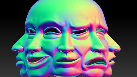 Multiple Expression Mask - 3D Printable FIles