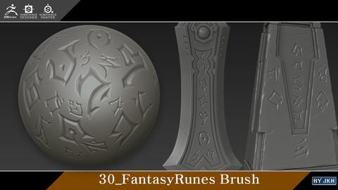 Zbrush_30_Fantasy_Runes Brush