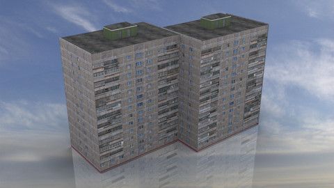 Russian Apartment 14 Storey Building