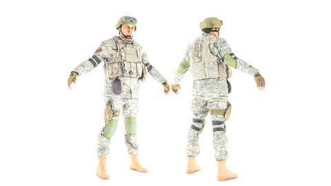 American soldier in ACU 13