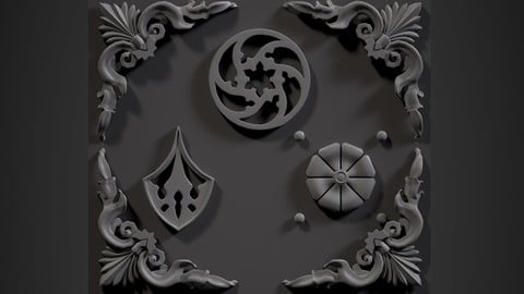 3D ornaments & trims