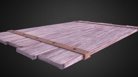 Wood board model