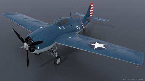 """GRUMMAN F4F-3 WILDCAT F-1 """"Felix"""""""