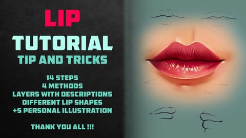 LIP TUTORIAL / TIP AND TRICKS | PHOTOSHOP