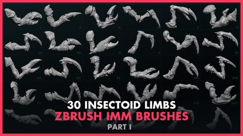 Alien Insectoid Limbs – 30 IMM Brushes Part I