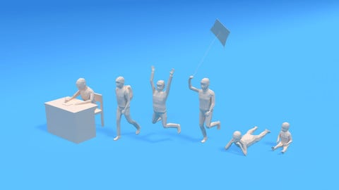 Low Poly Kids Collection Vol 2